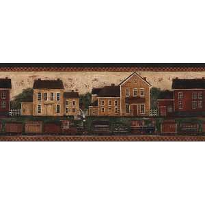 Country Train Wallpaper Border in Border Resource: Home