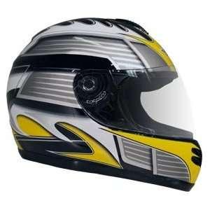 DOT Yellow Full Face Street Bike JIX Motorcycle Helmet Automotive