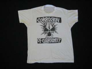1983 CORROSION OF CONFORMITY vtg TOUR T SHIRT 80s coc