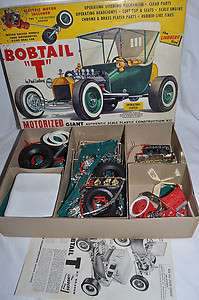 Vintage 50s Lindberg 1/8 BOBTAIL T Hot Rod Car Model Kit w/Electric