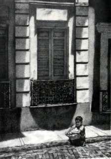 Jack Bookbinder San Juan Street Scene Print Lithograph