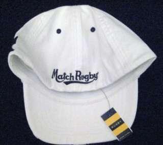 RUGBY RALPH LAUREN MEN NWT LOGO BALL CAP HAT S/M White