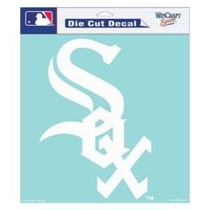 com Chicago White Sox Die Cut Decal   8x8 White permanent adhesive