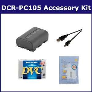 Sony DCR PC105 Camcorder Accessory Kit includes DVTAPE Tape/ Media