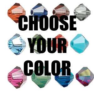 Swarovski Crystal 6mm Faceted Bicone Beads~Colors R T