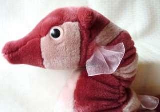 Stuffed Plush Animal Seahorse Sea Horse Aquatic K&M EUC