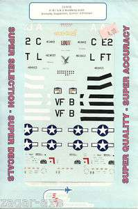 72 SuperScale Decals P 51B P 51D Aces Howard Eagleston Glover