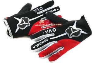 2012 Cycling Bike Bicycle FULL finger gloves Size M   XL RED