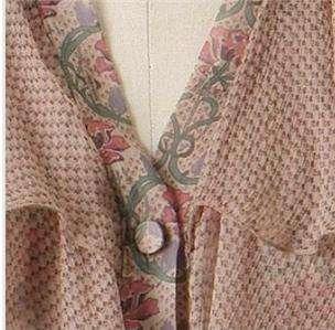 Nwt Anthropologie Anna Sui Silk Dearie Blouse Top Sz 6