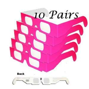 Sun Spots and Solar Flares   SAFE  Hot Pink Neon   10 Pairs