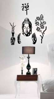 Asian Buddha Budha Wall Mural Vinyl Sticker Decal