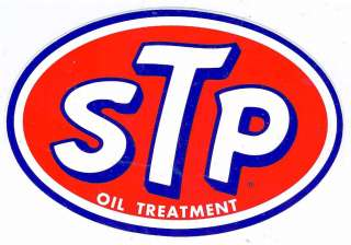 Vintage STP Racing Decal Sticker 7 Long Size 1980s Version
