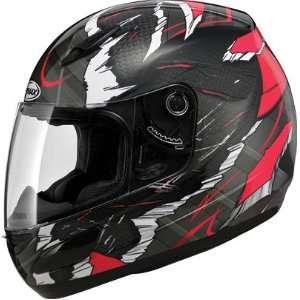 GMAX GM48 Full Face Street Motorcycle Helmet   Shattered Red/Black XS