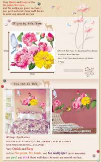 CP 036 A CAMELLIA FLOWER ART WALL DECOR MURAL STICKER
