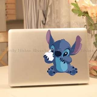 Stitch Macbook vinyl stickers pro air unibody decal sticker humor cool