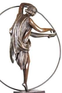 signed Art Deco Godard Bronze Dancer Sculpture statue
