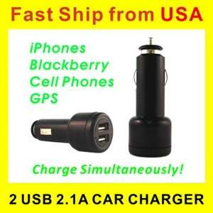 Amp Dual USB Car Charger iPod iPhone 3s 4  HTC