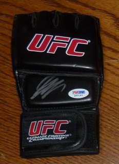 Georges St. Pierre Signed UFC Glove PSA/DNA COA Rush Autographed Champ