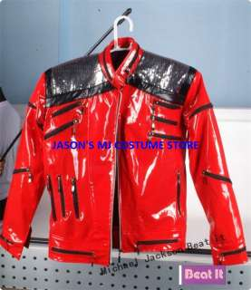 CLASSICA MICHAEL JACKSON BEAT IT RED JACKET ANY SIZE