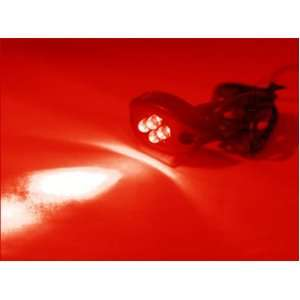 RED 4LED NEON MOTORCYCLE / CAR / BOAT / HOME / POD LIGHT BRIGHT 4 LED