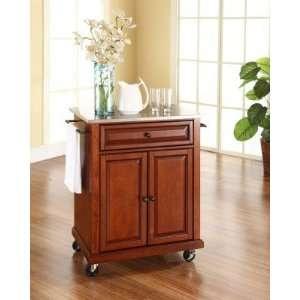 Portable Kitchen Island Cart White Cabinet Granite Locking Rubber Caca