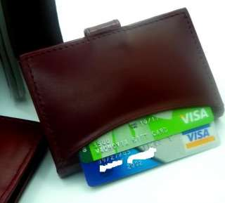 New Leather Business Credit ID Card Holder Purse Wallet # CM 1309 (NEW