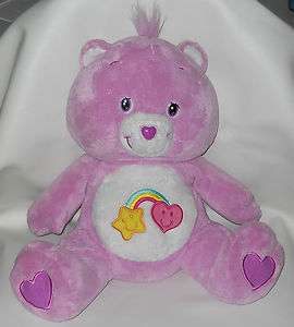 2006 Best Friend Large Care Bear Purple 20 Stuffed Plush Lovey Soft