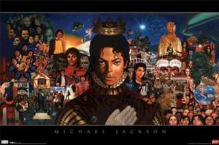 MUSIC POSTER ~ MICHAEL JACKSON CAREER COLLAGE