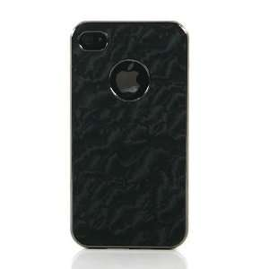 Black / Marble Pattern PU Leather Case Cover for iPhone 4 / iPhone 4S