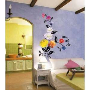 RHYTHM FLOWER Decor Mural Art Sticker Wall Paper CP 059