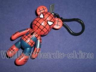 Spiderman Bear Figure Key Ring Dangle Pendant Decoration Keychain Bag
