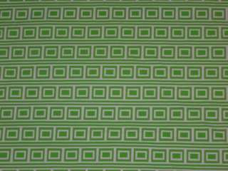 FABRIC GREEN WHITE RECTANGLE DESIGNER 4Way swim lycra fabric