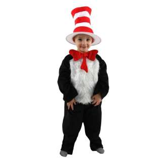 CAT IN THE HAT dr. suess jumpsuit hat kids girls boys halloween