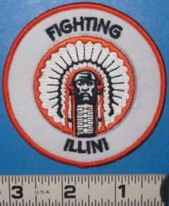 ILLINOIS FIGHTING ILLINI NCAA PATCH COLLEGE FOOTBALL