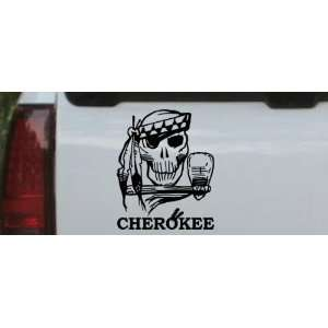Cherokee Indian Skull Skulls Car Window Wall Laptop Decal Sticker