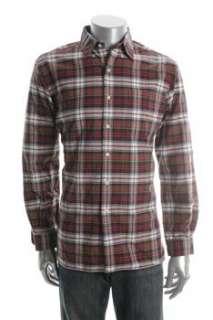 Ralph Lauren NEW Mens Button Down Shirt Red Plaid L