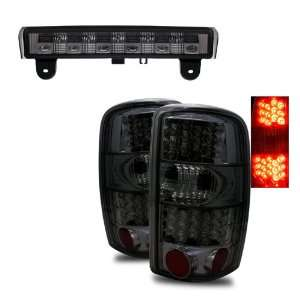 00 06 Chevy Tahoe Smoke LED Tail Lights + LED 3RD Brake