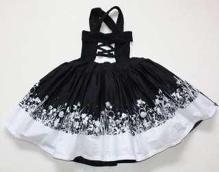 Jottum Solene Black White Portrait Dress 104 4 5 EUC LB