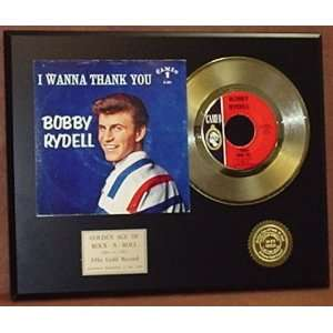 Gold Record Outlet Bobby Rydell 24kt Gold Record Display