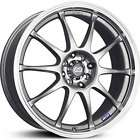 J10 SILVER RIMS WHEELS 17x7 +42 4x100 CIVIC INTEGRA DEL SOL FIT XB XA