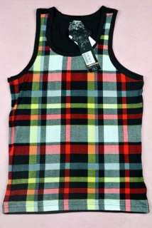 sexy red plaid Tank Top Men's Sleeveless Shirt Tommy Dooyao Vest