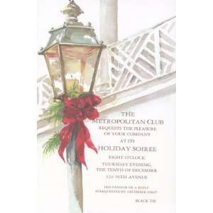 Chippendale Lantern, Custom Personalized Christmas Invitation, by Odd