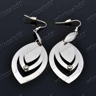 lots charm rhinestone stainless steel dangle hoop earrings hot fashion