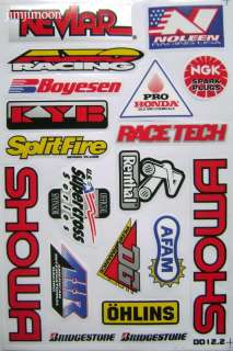 12 tag metals one ind renthal snap on ngk sticker decal