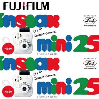 FUJI FUJIFILM Instax Mini 25 Cheki Instant Cam. WHITE