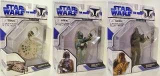 Star Wars BOBA FETT, MILLENIUM FALCON, CHEWIE Keychains