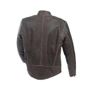 Mossi Mens Nomad Premium Leather Jacket 44 Distressed
