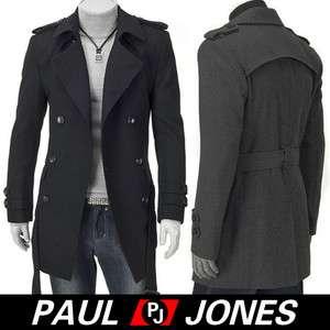 Men Stylish Slim Fit Jacket duoble pea Coat casual jacket overcoat