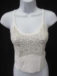 DESIGNER White Sleeveless Shirt Tank Top Shirt