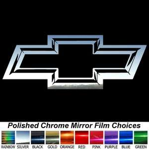 Chiseled Look CHROME CHEVY BOWTIE 23 Decal Pick Color